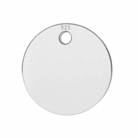 Sterling Silver Disc Charm 12mm Pendant